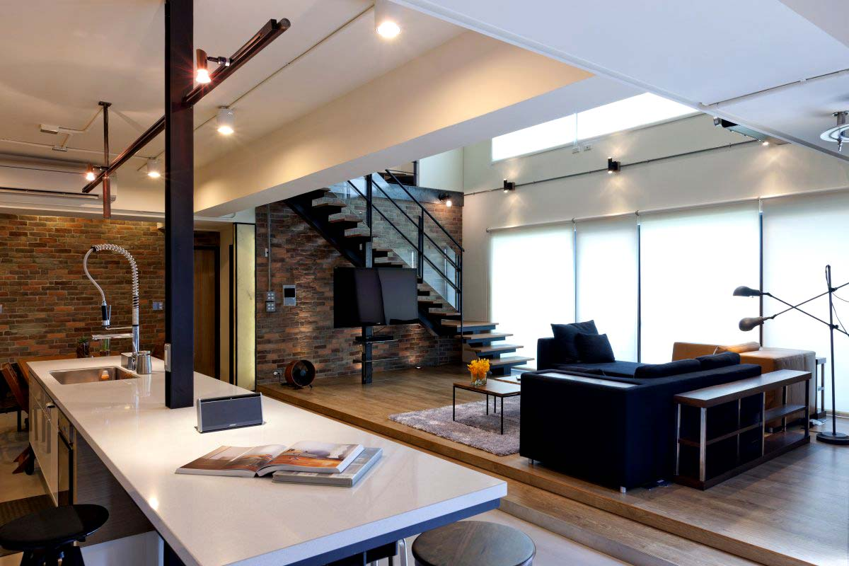 Reforma integral de un loft en taiwan lofts barcelona for Interior design for duplex living room